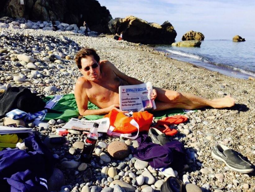 Rosario Crocetta in spiaggia