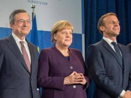 Draghi, Merkel e Macron