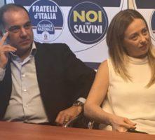 Giampiero Cannella e Giorgia Meloni