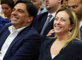 Salvo Pogliese e Giorgia Meloni